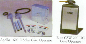 Images of Apollo 1600 E Solar Gate Operator and Elite CSW Gate Operator