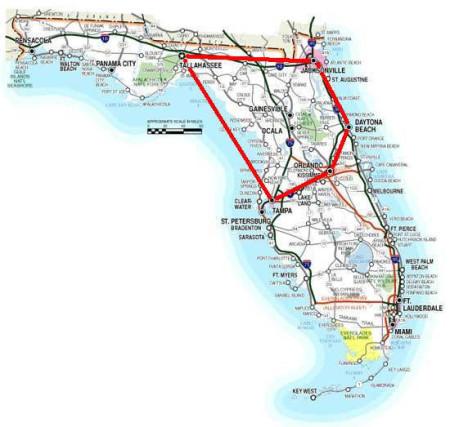 Ocala Gainesville Jacksonville Tampa Orlando